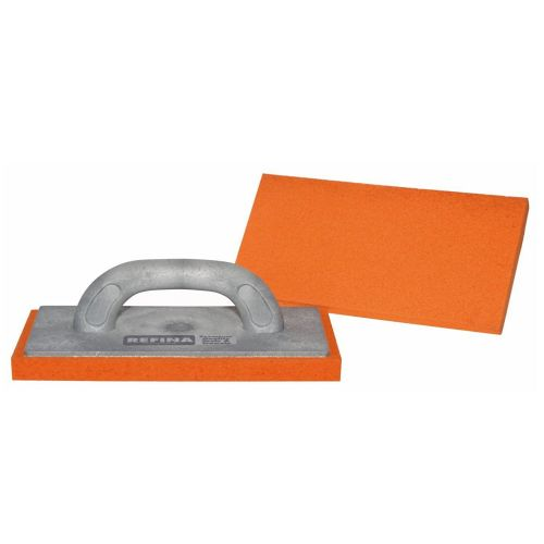 "Refina 11"" Sponge Float FINE Orange Grey Handle 261130"